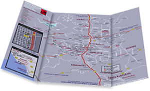 photo of folded map