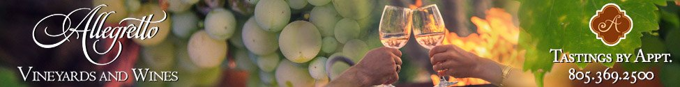 Allegretto Vineyards & Wines Banner Ad