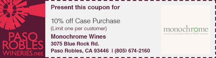 Monochrome Wines Tasting Coupon